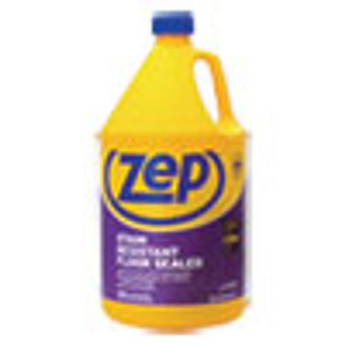 Zep Commercial Stain Resistant Floor Sealer  Unscented  1 gal  4 Carton (ZPEZUFSLR128CT)