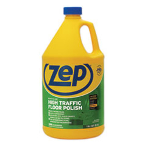 Zep Commercial High Traffic Floor Polish  1 gal  4 Carton (ZPEZUHTFF128CT)