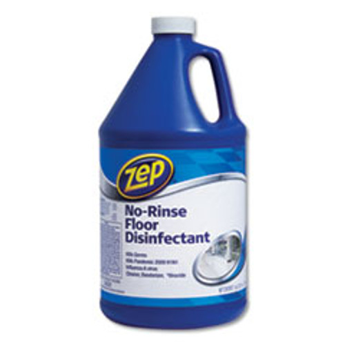 Zep Commercial No-Rinse Floor Disinfectant  Pleasant Scent  1 gal  4 Carton (ZPEZUNRS128CT)