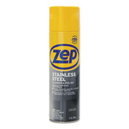 Zep Commercial Stainless Steel Polish  14 oz Aerosol  12 Carton (ZPEZUSSTL14CT)