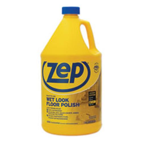 Zep Commercial Wet Look Floor Polish  1 gal  4 Carton (ZPEZUWLFF128CT)