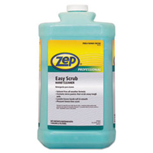 Zep Professional Industrial Hand Cleaner  Easy Scrub  1 gal Bottle with Pump  4 Carton (ZPP1049470)
