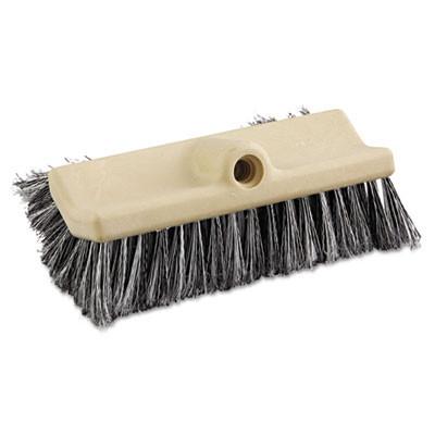"Tan Handle Boardwalk 5408 Flagged Polypropylene Bristle Counter Brush 8/"""