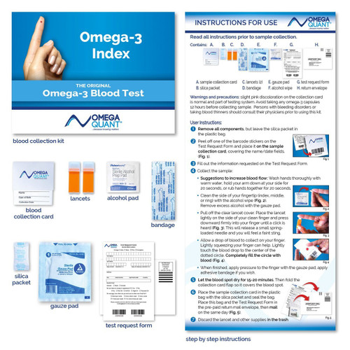 OMEGA-3 INDEX TESTING KIT