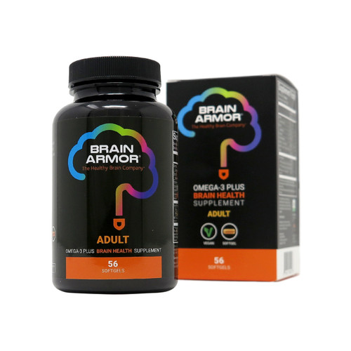 Brain Armor Adult Brain Nutrient Formula - Vegan Softgel, 56 Count (28 Servings)