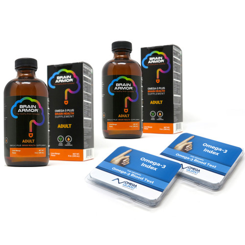 Brain Armor Adult  - 40 DAY STARTER PACK with Omega-3 Test Kits