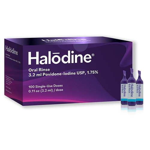 Halodine Oral Rinse - 100-pack