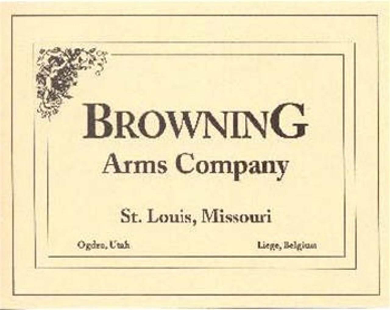 Browning Trade Label