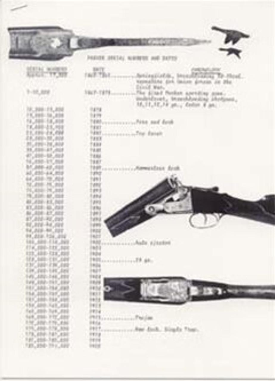Parker Serial Number Catalog Reprint