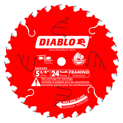 5‑3/8 in. x 24 Tooth Framing Trim Saw Blade