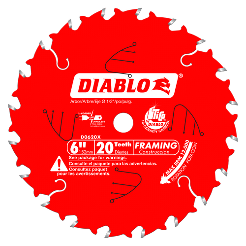 6 in. x 20 Tooth Framing Saw Blade for Port‑Cable Saw Boss®