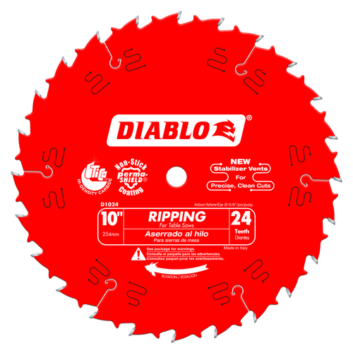 10 in. x 24 Tooth Ripping Saw Blade