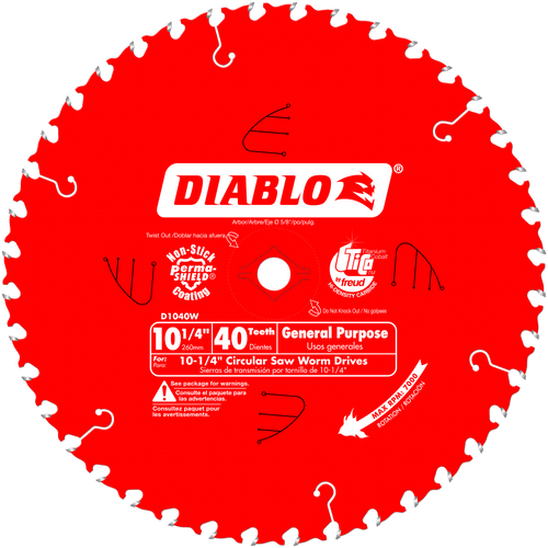 10‑1/4 in. x 40 Tooth General Purpose Beam Saw Blade
