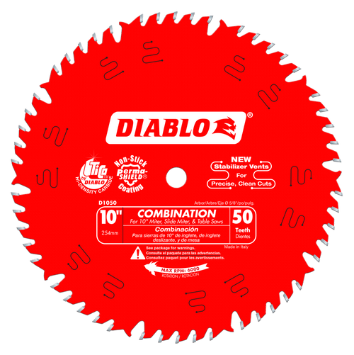 10 in. x 50 Tooth Combination Saw Blade