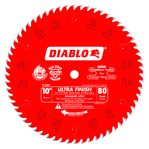 10 in. x 80 Tooth Ultra Finish Saw Blade