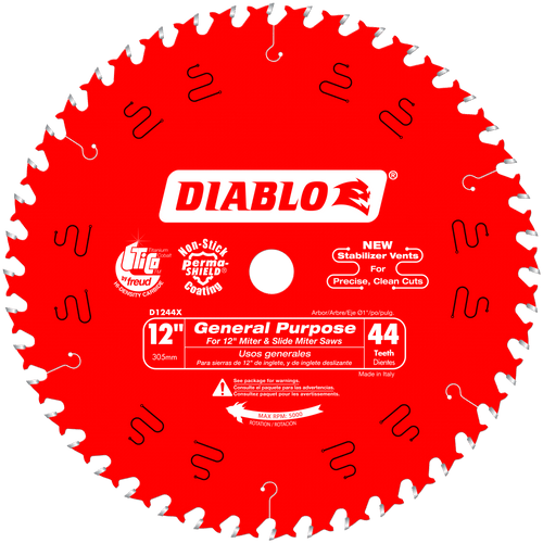 12 in. x 44 Tooth General Purpose Wood Saw Blade