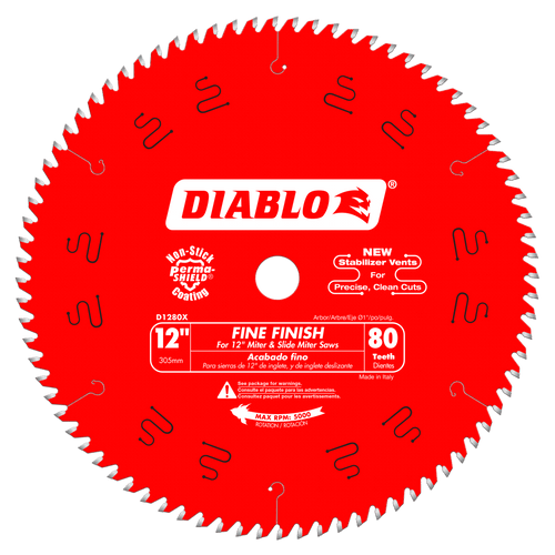 12 in. x 80 Tooth Fine Finish Saw Blade