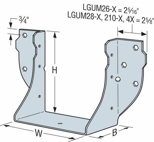 LGUM Face-Mount Beam/Girder Hangers for Concrete
