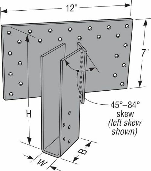 HHSUQ Heavy Severe Skew Truss Hanger