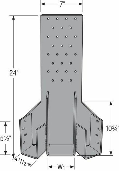 HTHMQ Heavy Multiple-Truss Hanger