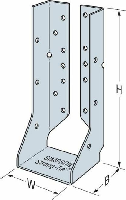 HUCQ Heavy Concealed Flange Face-Mount Joist Hanger