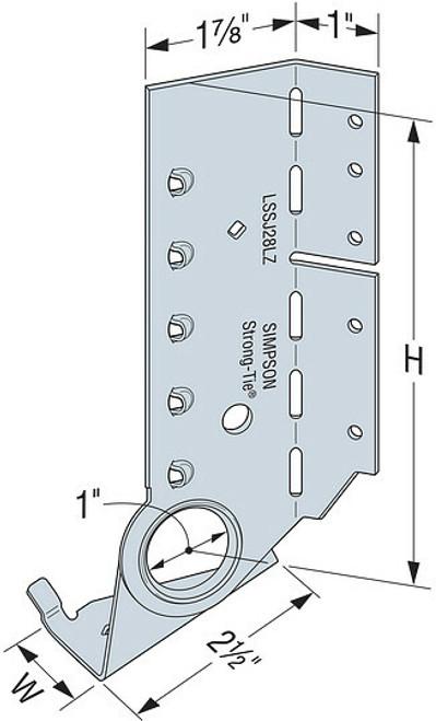 LSSJ Face-Mount Adjustable Light Slopeable/Skewable Jack Hanger
