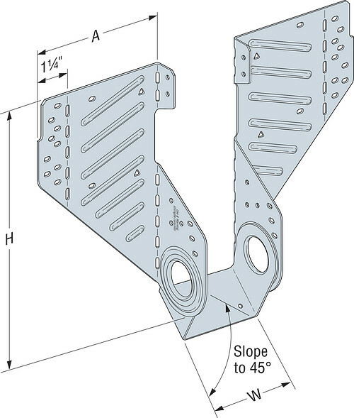 LSSR Slopeable/Skewable Rafter Hanger