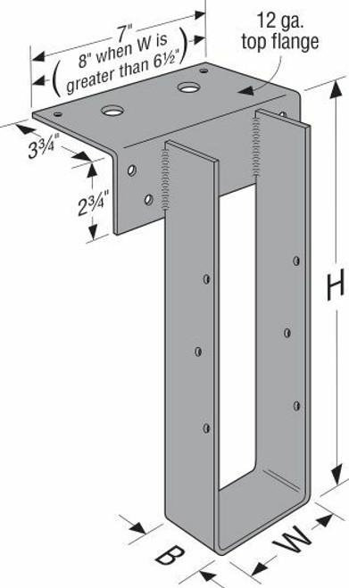 WMU GFCMU Top-Flange Hanger