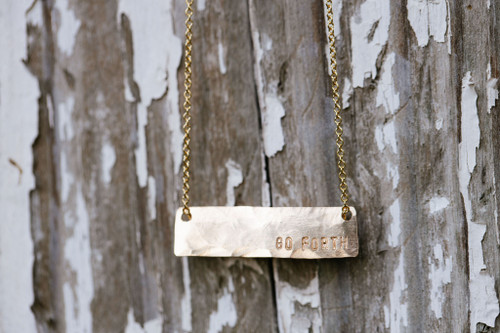 Go Forth Gold Bar Necklace