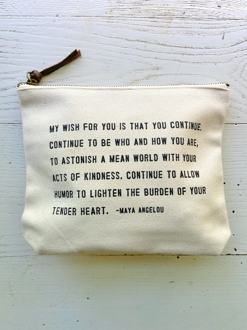 My Wish For You Zip Pouch