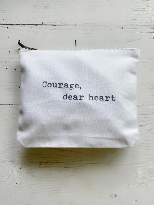 Courage, Dear Heart Zip Pouch