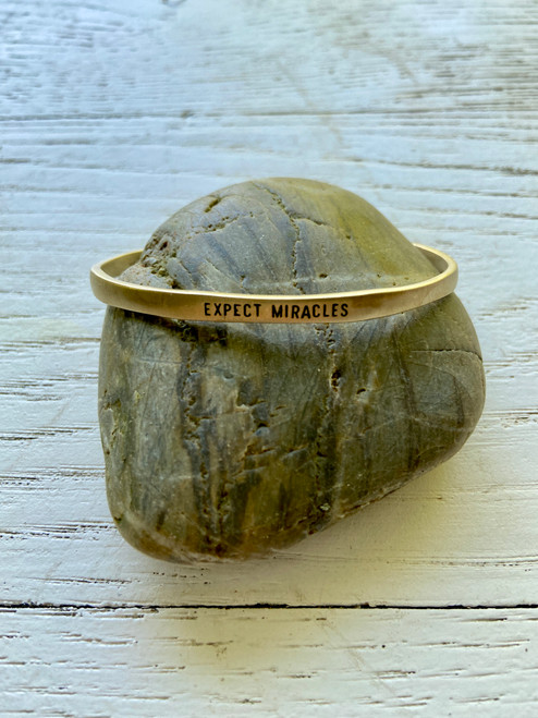 Expect Miracles Gold Cuff