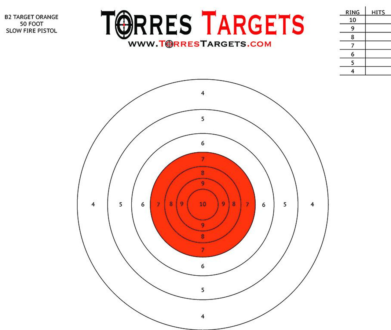photograph about Nra B-8 Target Printable titled B2 focus