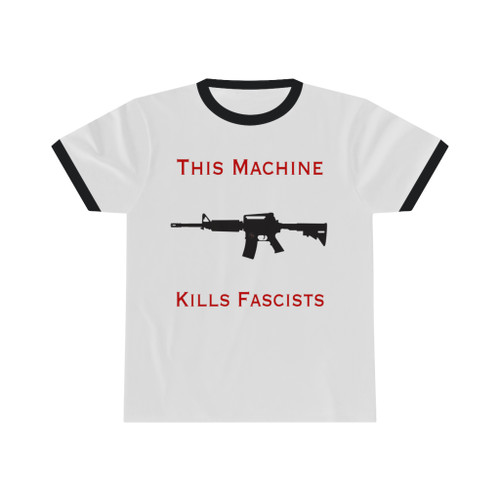 AR 15 Kills Fascists Unisex Ringer Tee