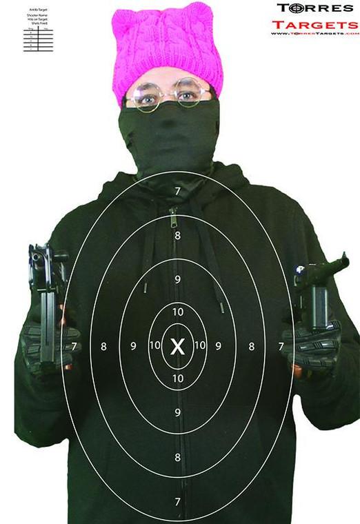 Antifa Terrorist Target with Rings