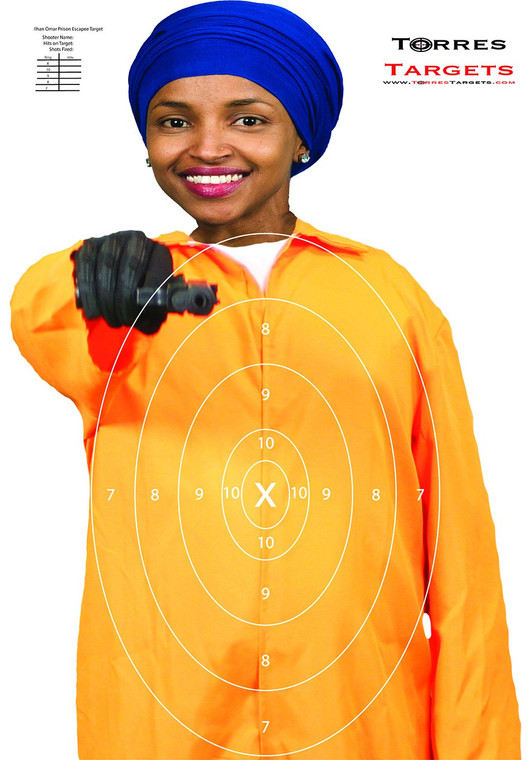 Ilhan Omar Target - Prison Escapee With Rings