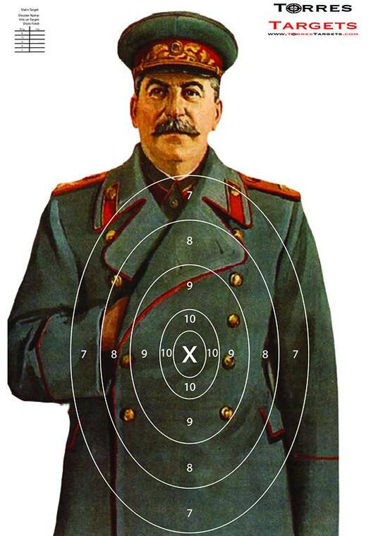 Joseph Stalin Target With Rings
