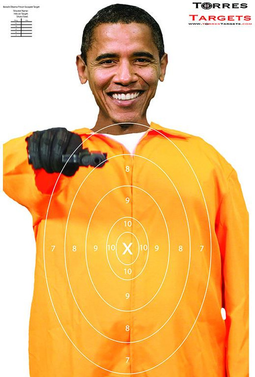 Barack Obama Target - Prison Escapee With Rings