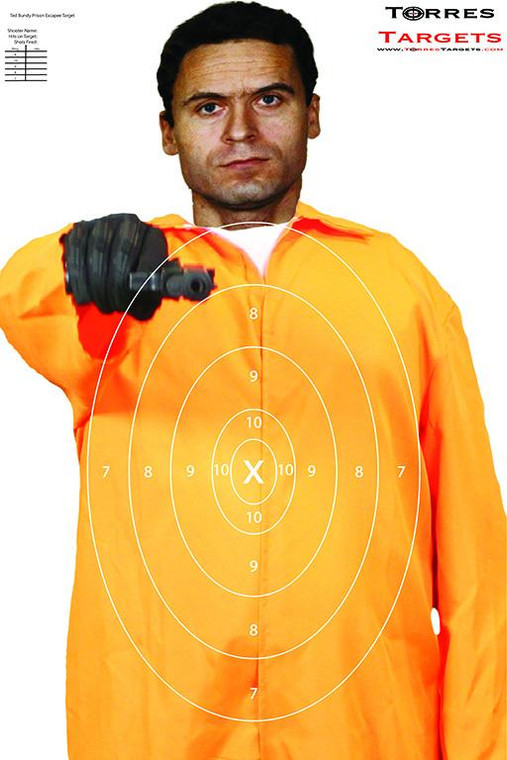 Ted Bundy Shooting Target  - Prison Escapee with rings