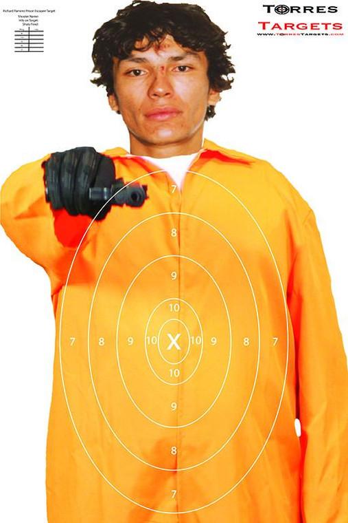 Richard Ramirez Shooting Target - Prison Escapee with rings