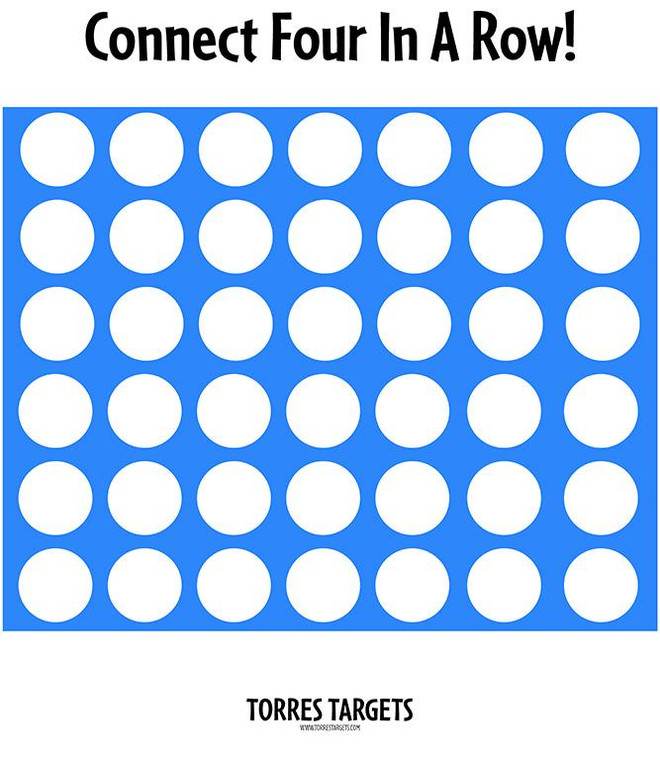 Connect Four In A Row Shooting Target