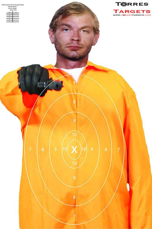 Jeffrey Dahmer Shooting Target - Prison Escapee with rings