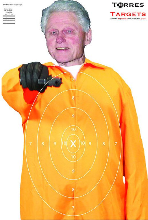 Bill Clinton Shooting Target - Prison Escapee with Rings