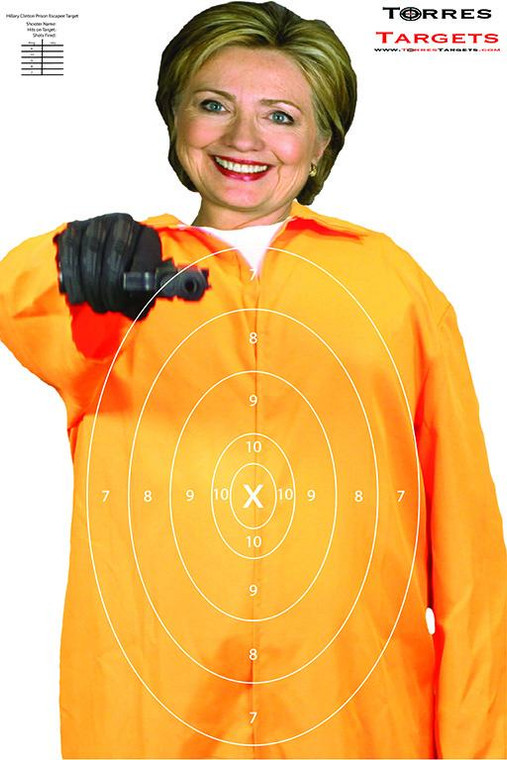 Hillary Clinton Shooting Target - Prison Escapee