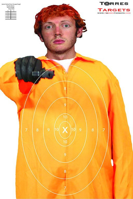 James Holmes Shooting Target - Prison Escapee with rings