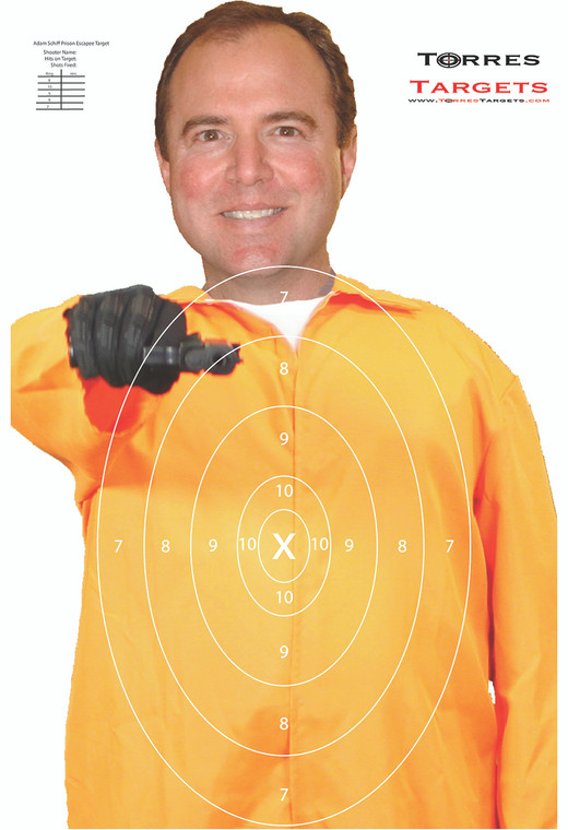 Adam Schiff Shooting Target - Prison Escapee