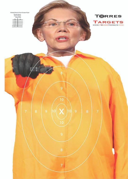Elizabeth Warren Prison Escapee Shooting Target