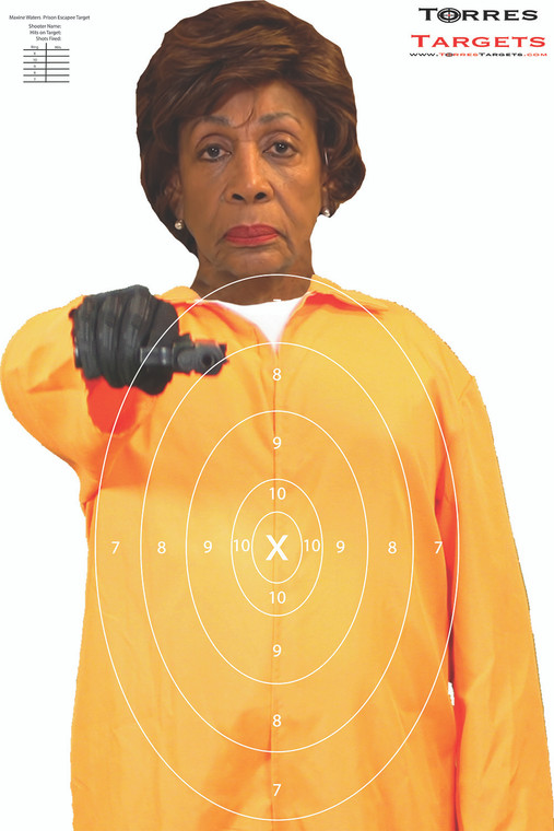 Maxine Waters Shooting Target - Prison Escapee