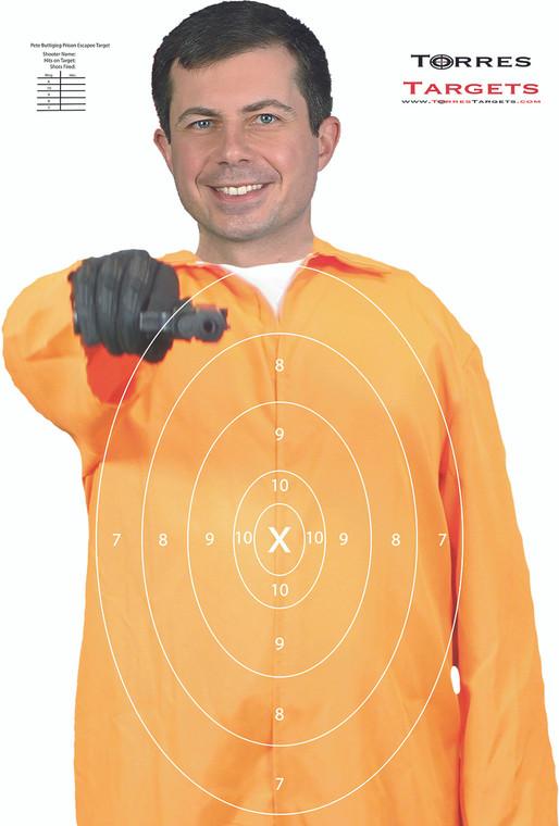 Pete Buttigieg Shooting Target - Prison Escapee