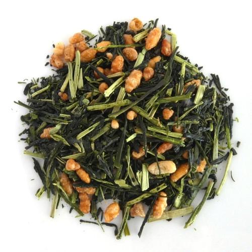 High-Grade Karigane Genmaicha by Taniguchien leaf
